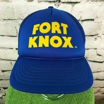 Fort Knox Herren O/S Snapback Kappe Blau Verstellbar Meshback Trucker Ba... - $17.81