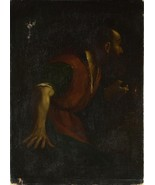 After Guercino - A Bearded Man holding a Lamp - 40x50 inch Canvas Wall A... - $159.00