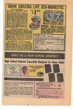 1969 Grow Amazing Live Sea Monkeys Advertisement - $15.00