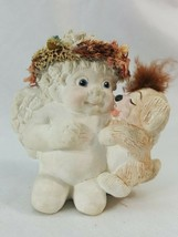 Dreamsicles Cherub with Puppy Dog Figure Kristin 1991 Cast Art ICEN8 - $7.95