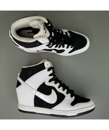 Nike Dunk Sky High Essential Hidden Heel Wedge Shoes Womens Size 7 White... - $116.86
