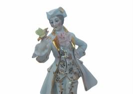 Dresden Antique Porcelain Figurine vtg Germany Victorian gold lace gentl... - $296.95