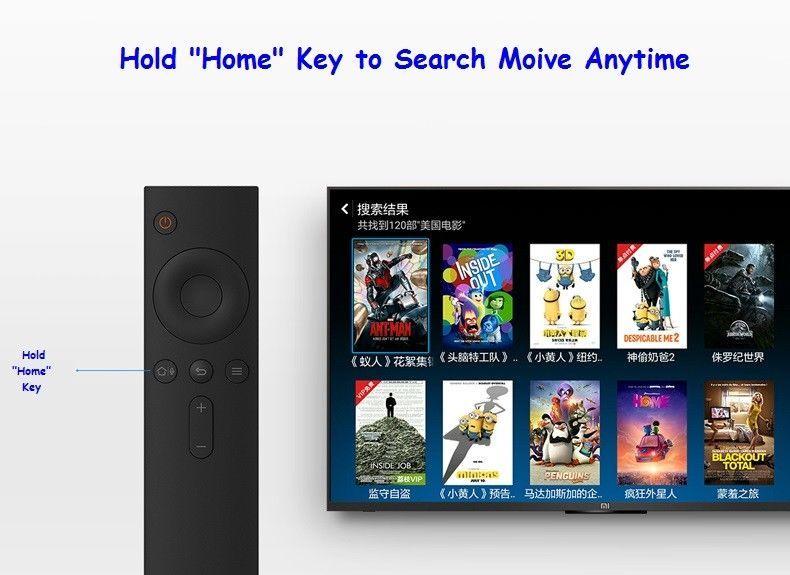 Bluetooth Voice Search Remote Control for Xiaomi Mi Box Mi TV Free Silicon Cover