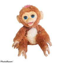 Hasbro FurReal Friends Cuddles My Giggly Monkey Interactive Pet Working READ - $22.99