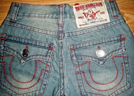 NWT AUTHENTIC TRUE RELIGION WORLD TOUR BILLY SUPER T RED STITCH JEANS 30... - $96.74