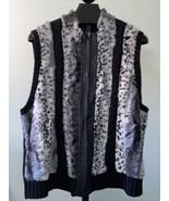 Peter Nygard Faux Fur Vest Women's Plus Size 3X - $32.55