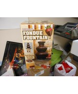"Nostalgia Electrics ""Chocolate Fondue Fountain Stainless Steel 3 Tier""USED - $27.67"