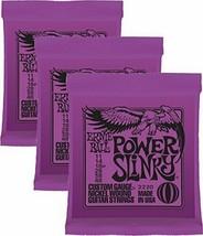 Ernie Ball Power Slinky Nickel Wound Sets.011 - .048, Bundle of 3 Sets - $21.45