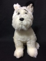"""ABC theKEY Skiddles Plush 12"""" Stuffed Toy White Terrier Dog by Russ Berrie - $8.79"""