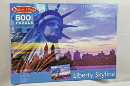 Melissa & Doug 500-Piece Statue of Liberty New York City Skyline Jigsaw ... - $8.33