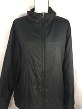 Columbia Men Black High Neck Winter Jacket Zip Up padded Light Weight XL - $23.38