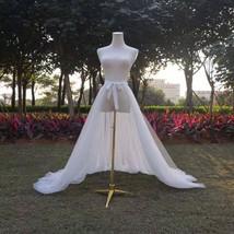 WHITE Detachable Tulle Skirt White Tulle  Open Skirt Wedding Photo Tulle Skirt  image 1