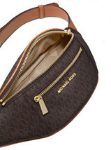 Michael Kors Women's Mott Medium Logo Adjustable Leather Waistpack Belt Bag image 3