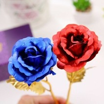 Rose Flower Multi-Color Plated Rose Romantic Valentine Day - 1 x Random Color image 2