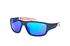 Carrera Men's Sport Sunglasses CA 4008/S RCT Matte Blue White/Blue Mirro... - $247.45