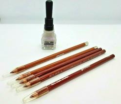 Jordana Makeup Lip & Nails 5 Full Lip Liner Sticks, Bottle Light Purple Polish - $11.30