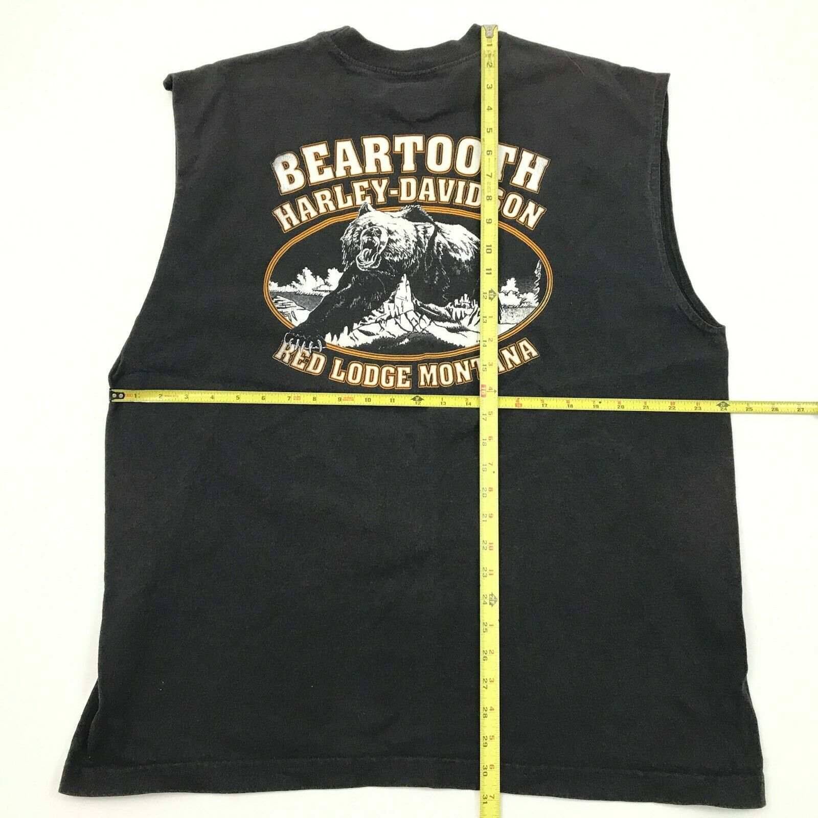 Harley Davidson Dragon Chemise sans Manche XL Beartooth Grizzly Rouge Lodge image 5