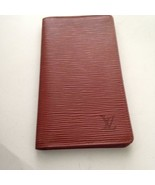 Louis Vuitton Brown Epi Leather Long Checkbook-Breast Wallet 7.25inx4in (CA1929) - $237.45