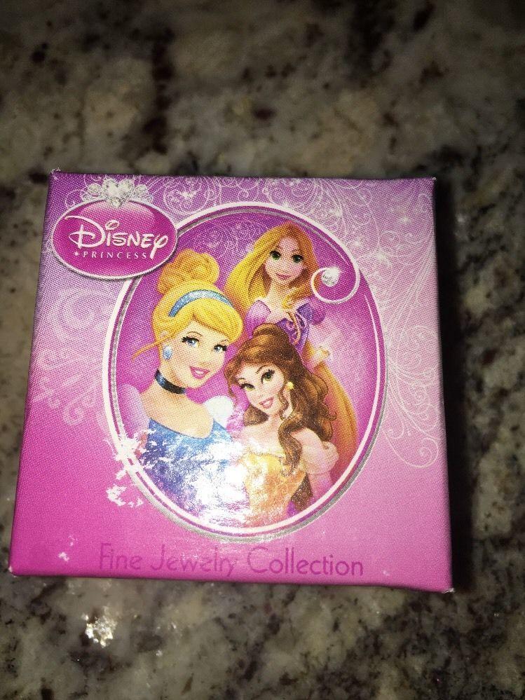 14k Earrings Disney Princess 3x3 Square Pink CZ NIB $99.99