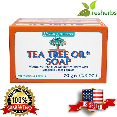 TEA TREE OIL BODY HAND 100% NATURAL Melaleuca ANTIFUNGAL HERBAL PURE SOAP 1 BAR