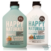 Intense Repair Argan Avocado Shampoo And Conditioner Happy Naturals No Parabens - $23.47