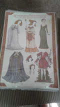 Old Fashioned Embossed SHAKESPEARC CHARACTER Cut-Out Paper Dolls & Costu... - $5.89