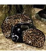Betsey Johnson Patent Faux Leather Animal Leopard Print Cosmetic Makeup ... - $39.95