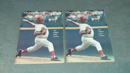 Lot of 2 1977 Cincinnati Reds Scorebooks Reds vs Phillies + Reds vs Houston - $13.00