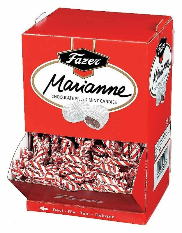 Primary image for Fazer Marianne Chocolate Filled Mint Candies 200 gram to 1.8 kg Made in Finland
