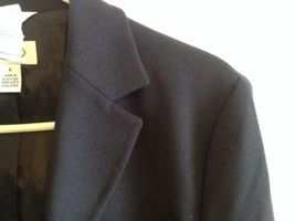 Talbots Navy Wool Blazer Lined Nautical Buttons Professional Career Sz 6 EUC image 9
