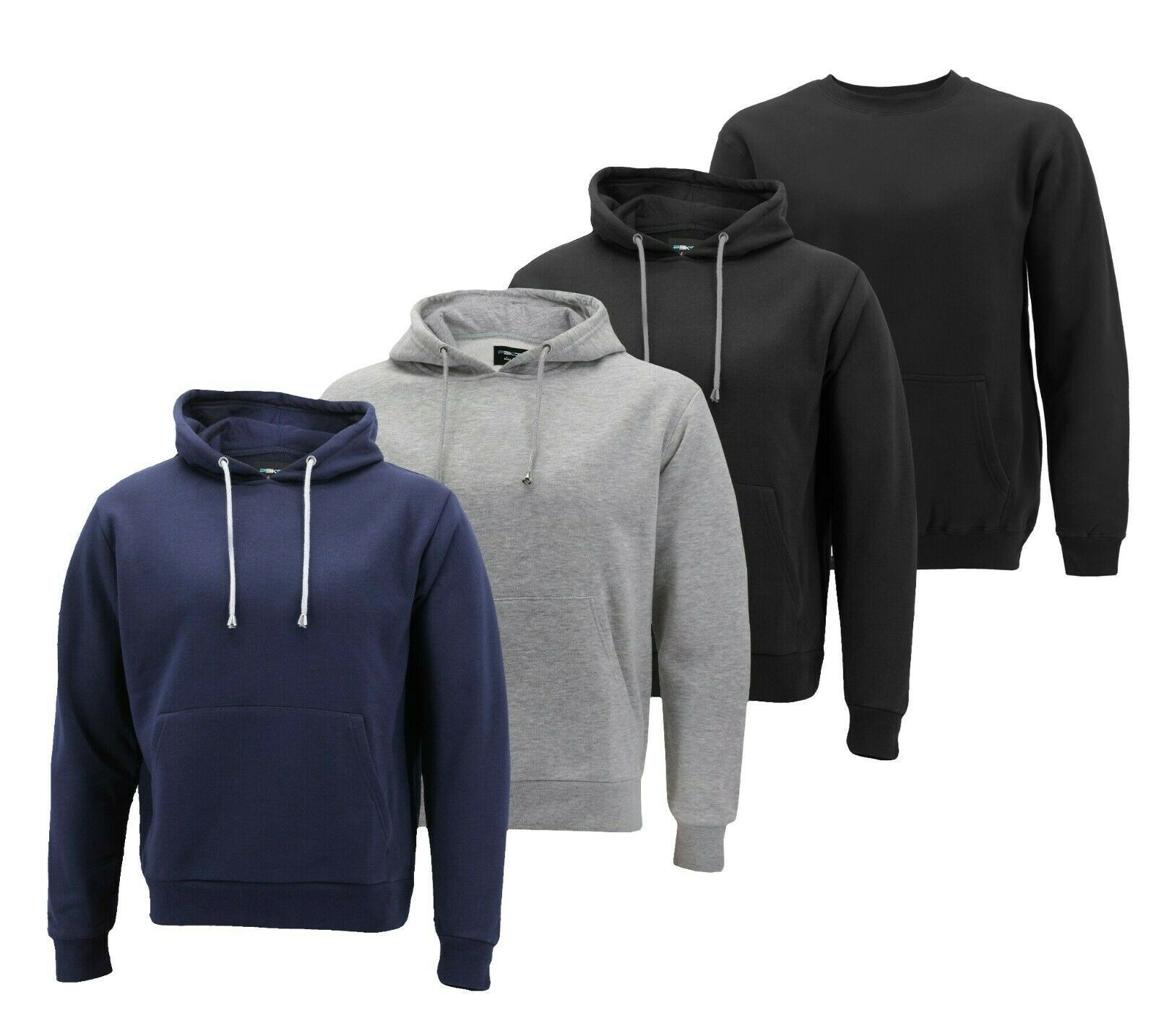 Men's Pullover Hoodie Warm Fleece Casual Sweater Athletic Sweatshirt Slim Fit