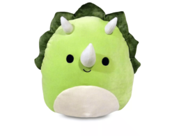 Kellytoy Squishmallow 12 Inch Plush | Tristan the Green Triceratops - $25.73