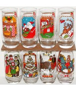 Vintage glasses PEPSI COLA Christmas 1983 Set of 8 unused new old stock ... - $29.99