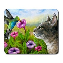 Mousepad Mouse Pad Computer Mat Cat 591 bird hummingbird flower art L.Dumas - $15.99