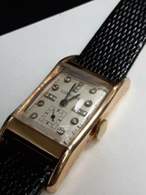 Vintage LONGINES Cal. 9L Diamond Dial 14K Y Solid Gold Watch Nice lugs  - $787.05