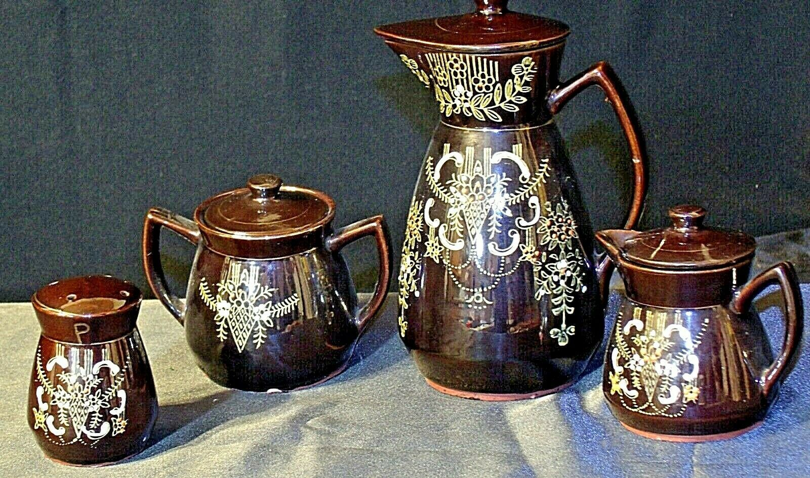 Tea pot, Sugar and Creamer Set AB 120 Vintage