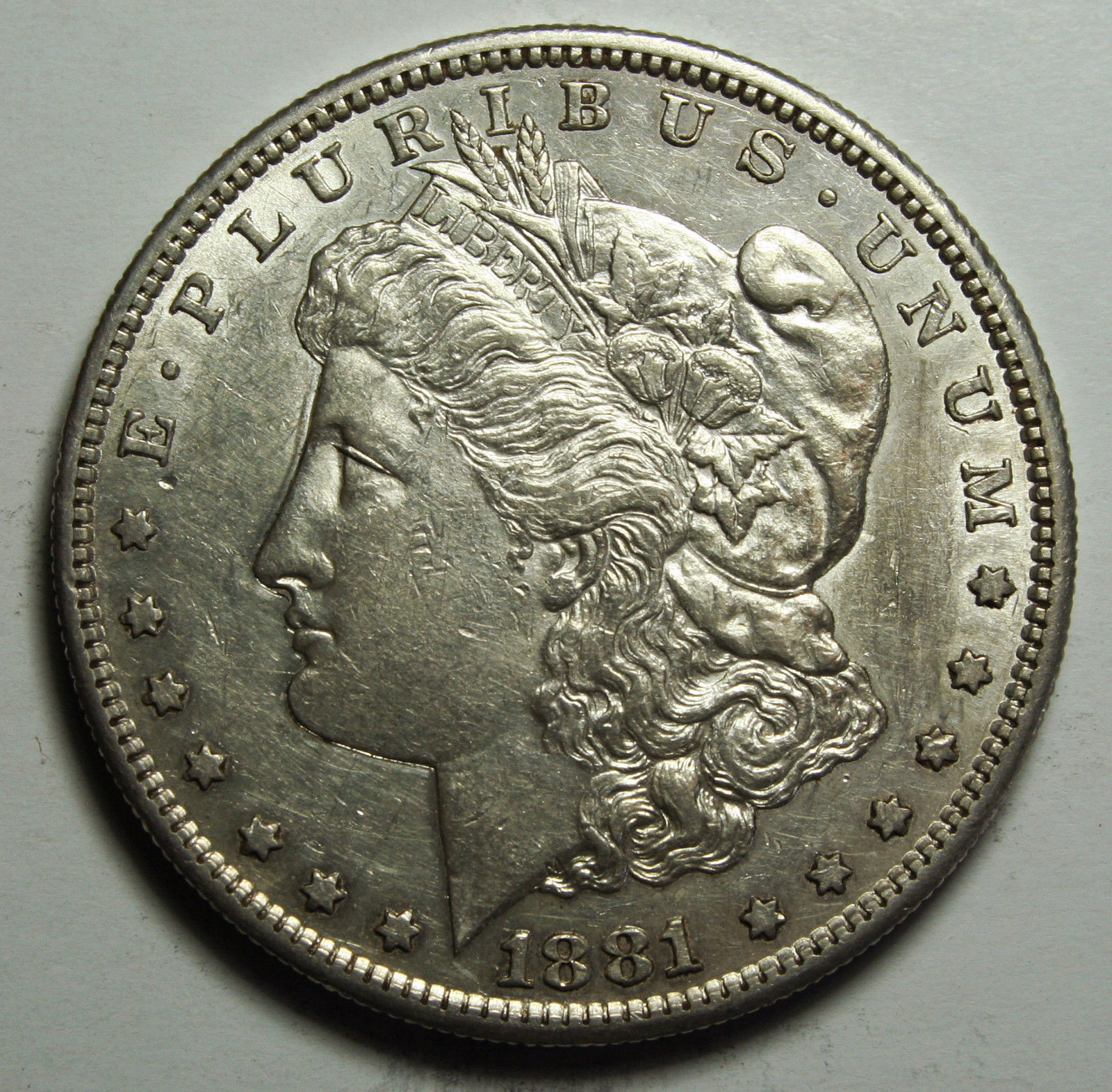 1881S MORGAN SILVER DOLLAR COIN Lot# D 13