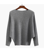 Winter Batwing Sweater Female Bat Jersey Oversized Sweater Women Oversiz... - ₹2,201.31 INR