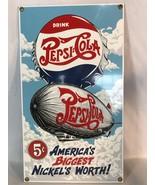 Retro Pepsi Cola Sign 1995 America's Biggest Nickel's Worth - $24.00