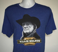Mens The Willie Nelson Collection t shirt XL blue cotton blend - $19.34