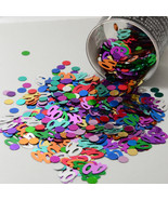 Number 40 and Circles Multicolor Confetti Bag 1/2 Oz Birthday Party CCP9003 - $3.95+