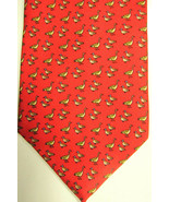 NEW $100 Peter Blair Light Red With Light Brown Walking Ducks Men's Silk... - $52.49