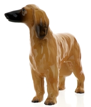 Hagen-Renaker Miniature Ceramic Dog Figurine Afghan Hound Pedigree Red image 2