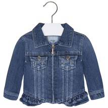 Mayoral Baby Girls Tier Ruffle Hem Denim Jean Jacket