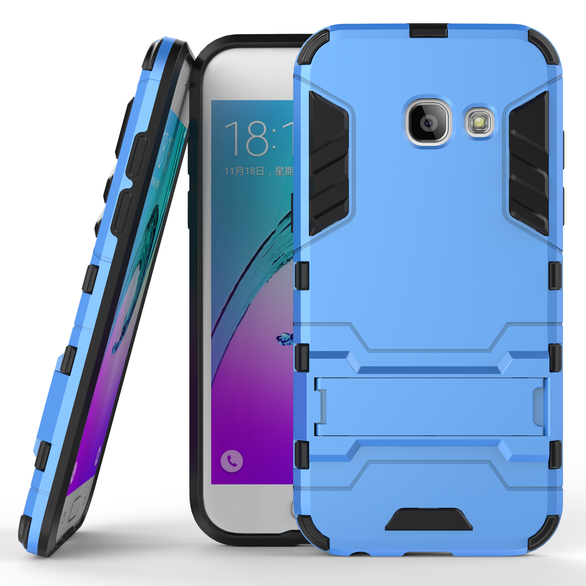 Or kickstand protective cover case for samsung galaxy j3 2017 j3 emerge blue p201701181411159520