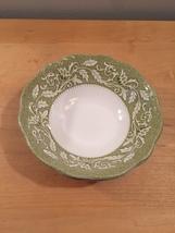 """Set of 2 vintage 60s J & G Meakin Renaissance (green) pattern  6 1/4"""" bowls image 5"""