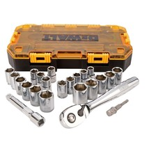 DEWALT 1/2 in. Drive Combination Socket Set with Case (23-Piece) - $66.27 CAD