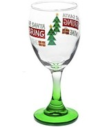 Dear Santa Just Bring Wine Green Stemmed Wine Glasses(2), 10 oz. free s... - $12.00