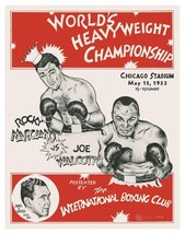 ROCKY MARCIANO vs JOE WALCOTT 8X10 PHOTO BOXING POSTER PICTURE - $4.94