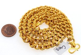 AUTHENTIC 22K GOLD SOLID EXCLUSIVE MENS ROLO INTERLOCKING LINKS CHAIN - $2,820.56